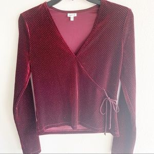 Maroon Party shirt with shimmers